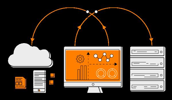 「UD Cloud」は、オンプレミスとawsクラウドの組み合わせたスタイル
